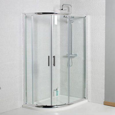 Quad-offset-Shower-Enclsoure